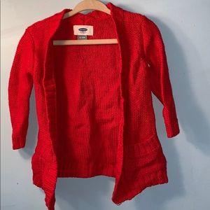 RED Toddler Cardigan